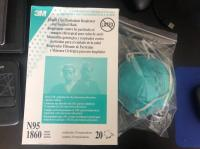 3M 1860 N95 Particulate Respirator Face Mask. 3