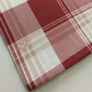 Wholesale polyester yarn with textile: Non-elastic Pure Polyester Fabric with Large Grid Print