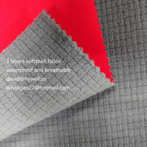 Wholesale softshell fabric: 96% Polyester 4% Spandex Softshell Fabric for Winter Jacket