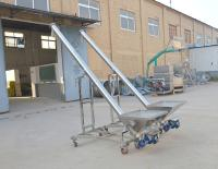 Movable Grain Stainless Steel Hopper Inclined Auger Screw Conveyor