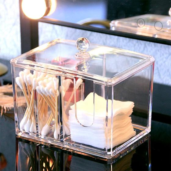 Sell acrylic cosmetic cotton swab box