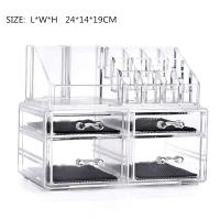 Jewelry&Cosmetic Storage Boxes with Brush Holder with 4 Drawer 2 Pieces Set 2