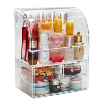 Large Cosmetic Makeup Organizer Dust Water Proof Cosmetics Storage Display Case with Drawers