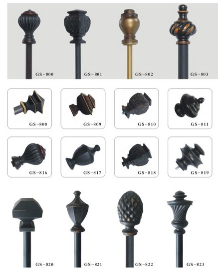 wooden crystal regard for finials finial rooms of pole to curtain with rods rod house acorn new