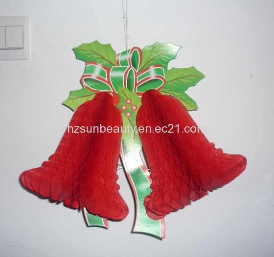 Bell Decorations Mesmerizing Paper Christmas Bell Decorations  My Blog Review