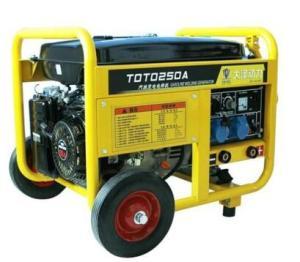 Wholesale air-cooled diesel engine: 250A Hand-Push Gasoline Power Generation E-Welding Machine