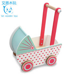 Wholesale Dolls: Adorable Design Wooden Baby Doll Buggy Stroller