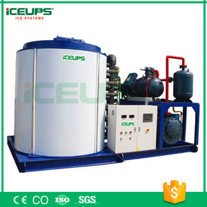 Wholesale ice flake machine: ICEUPS 25Tons Large Industrial Freshwater Flake Ice Machine