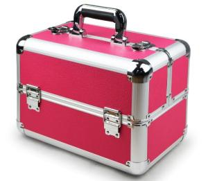 Wholesale nail beauty case: Aluminum Cosmetic Display Case for Nail Beauty, Carrying Jewelry Case