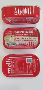 Wholesale canned vegetables: Canned Sardines in Vegetable Oil & Spicy Oil 12r Gr , Easy Open , Origin Morocco