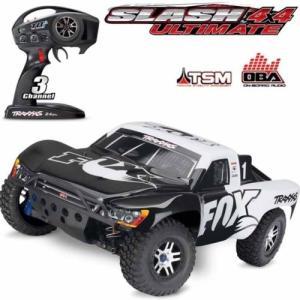 Wholesale short course truck: Traxxas 68077-24 Slash 4x4 Ultimate 1/10 Brushless Short Course LCG Truck FOX