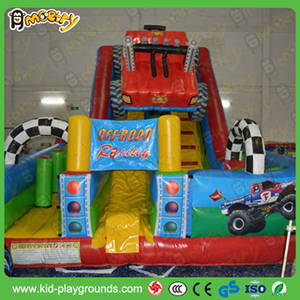 Wholesale inflatable slide: Off-Road Racing Inflated Slide Combo