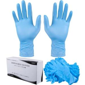 Wholesale ship: Ready To Ship Nitrile Disposable Gloves Medium Blue Powder Free