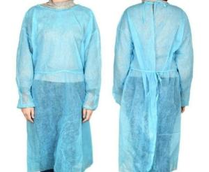 Wholesale isolation gown: DISPOSABLE MEDICAL ISOLATION GOWN, Non Woven with Sleeves