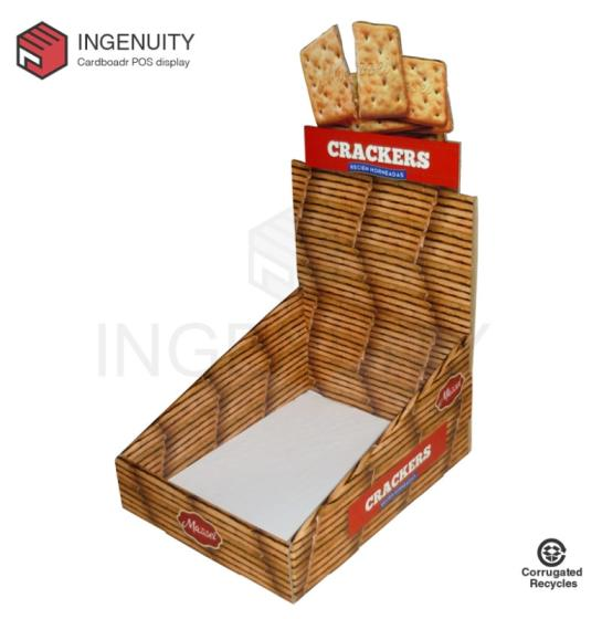 Sell Recycle cardboard display box for crackers CDU-TRAY-025