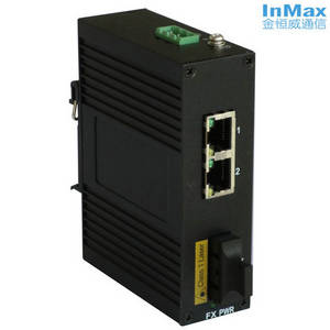 Wholesale converter: 3 Ports Media Converter with 1 Fiber Port Unmanaged Industrial Ethernet Switch I303A