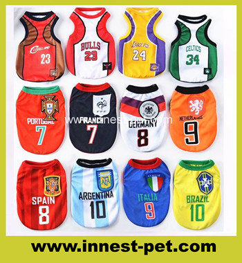 Quality PET Supply Accessary Basketball Team Dog Tshirt Clothes
