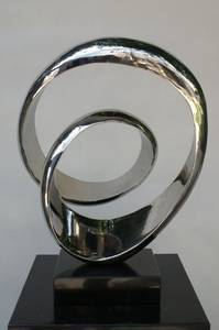 Wholesale abstract: Hand Forged Abstract Modern Stainless Steel Sculpture