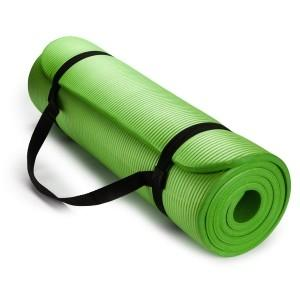 Wholesale mat: Wholesale Extra Thick High Density Anti-Tear 6mm,8mm,10mm,15mm Exercise Yoga Mat with Carrying Strap