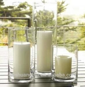 Wholesale Home Decor: Long Straight Cylinder  Glass Vases