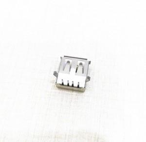 Wholesale single ups: USB 2.0 A Type Socket Connector Female with Flange, Right Angle DIP