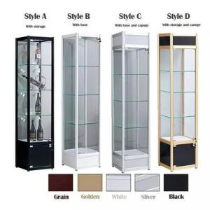 Wholesale designer jewelries: Elegant Museum Cabinet Design Wood Glass Showcase for Jewelry