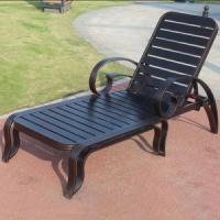 High Quality Cast Aluminum Frame Outdoor Chaise Lounge Chair Furniture Manufacture