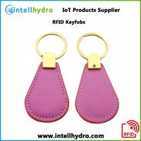 Cheap 125khz RFID Keyfob Keychain for Door Lock Access Control with ABS,Leather Material