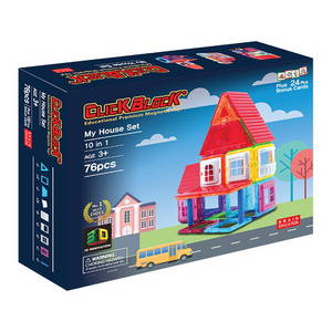 Wholesale Plastic Products: Click Block 2D 76pcs My House Set