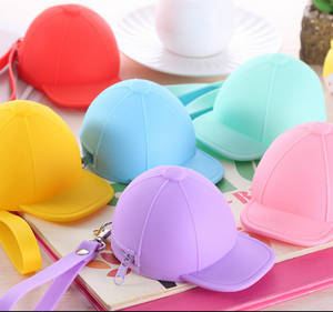 Wholesale hat: Cute Colorful Hat Silicone Coin Mini Bag