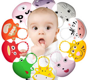 Wholesale baby bib: Baby Bibs Waterproof Silicone Feeding Baby Burp Towel Newborn Cartoon Aprons