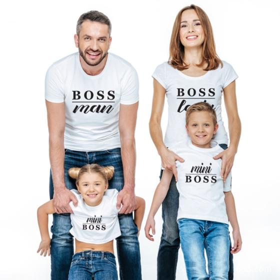 Sell Summer Parent-Child Wear Printed Loose Short Sleeve T-Shirt