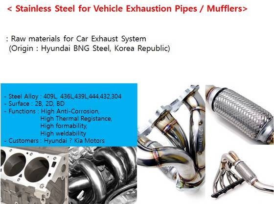 Sell Stainless Steel for Vehicle / Car Exhaustion Pipes / Mufflers