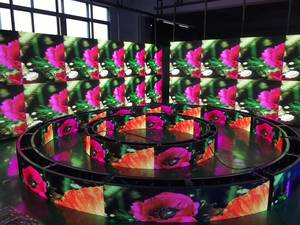 Wholesale led flexible display: High Quality Flexible LED Display Used for Night Club DJ Booth