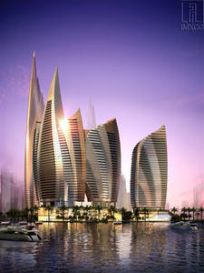 Wholesale pencil art: 3D Rendering- Commercial and Residential Complex,Abu Dhabi
