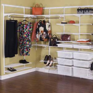 Wholesale wardrobe: Classic Wire Shelf Closet Kit for All Wardrobes
