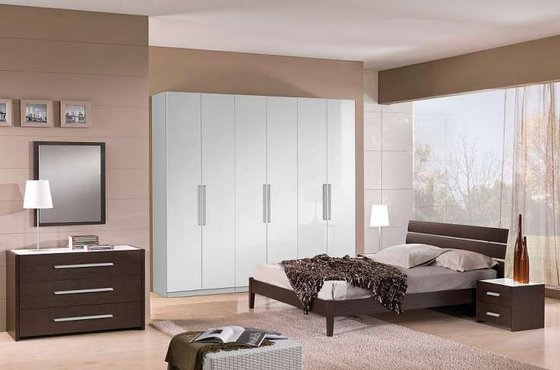 Italian Furniture Bedroom Set Alice ivory finish bedroom