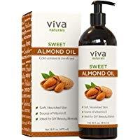 Viva Naturals Sweet Almond Oil, 100% Pure and Hexane Free