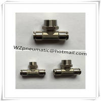 Stainless Steel Male Branch Tee Pneumatic Fittings