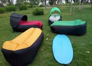 Wholesale inflatable sleeping bags: Sleeping Air Shelter Bag Lazy Hangout Inflatable Sleep Loungers with Canopy