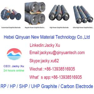 Wholesale graphite electrode factory: UHP 550*2400mm Graphite Electrode with Nipples