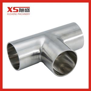 Wholesale sanitary fitting: 304 316L Sanitary Stainless Steel Welding Tee for Pipe Fitting