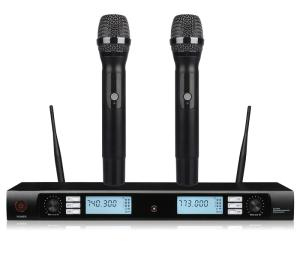 Wholesale uhf: Professional 2 Channel UHF KTV High Quality Wireless Microphone