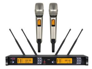 Wholesale wireless headsets: Professional True Diversity Karaoke Headset Wireless Microphone