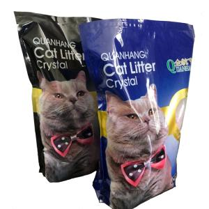 Wholesale silica sand: Factory Wholesale PET Cleaning Blue Silica Gel Cat Litter 3.8 L Cat Sand