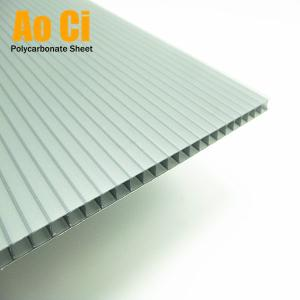 Wholesale polycarbonate hollow sheet: Blue Twin Wall Polycarbonate Hollow Sheet
