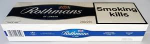 Wholesale Cigarettes: Rothmans Blue King Size	& Rothmans Red King Size