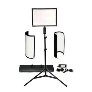 Wholesale Camera Accessories: FL-180 Flexible Vari-Color LED Light Panel Kit with Stand