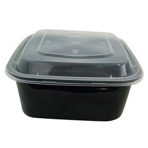 Wholesale Food Packaging: Square 1000ml Thicken Disposable PP Plastic Microwaveable Food Box with Inner Tray Arched Lid