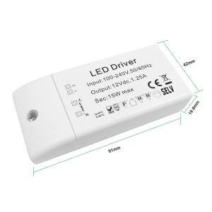 Wholesale led lighting connector: 12v 15W Mini LED Driver  Mini LED Driver Supplier  Constant Voltage Power Driver